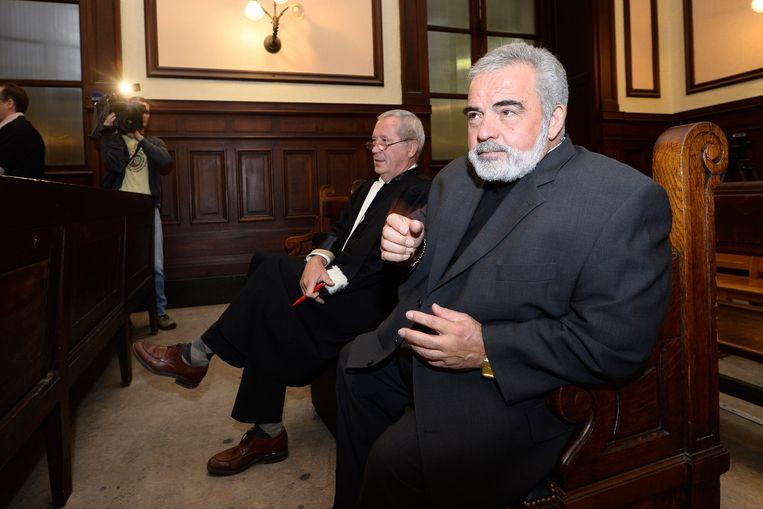 Filippo Gaone, gewezen voorzitter van La Louvière, is de enige van de beschuldigden die kwam opdagen. Beeld PHOTO_NEWS