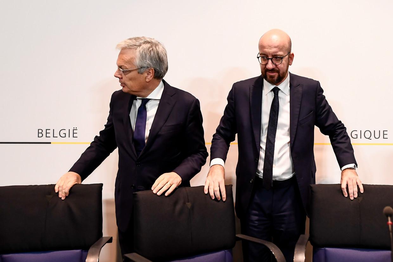 Didier Reynders en Charles Michel. Beeld Belga