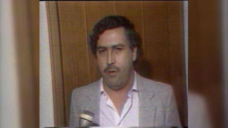 Pablo Escobar. Beeld VTM NIEUWS