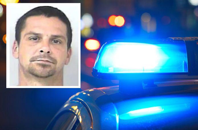 Joseph Zak (37) na zijn arrestatie.