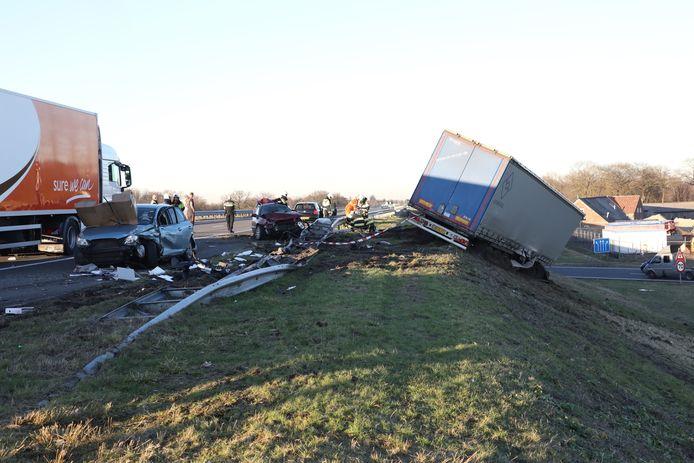 Zwaar ongeval op de A50 bij Nistelrode.