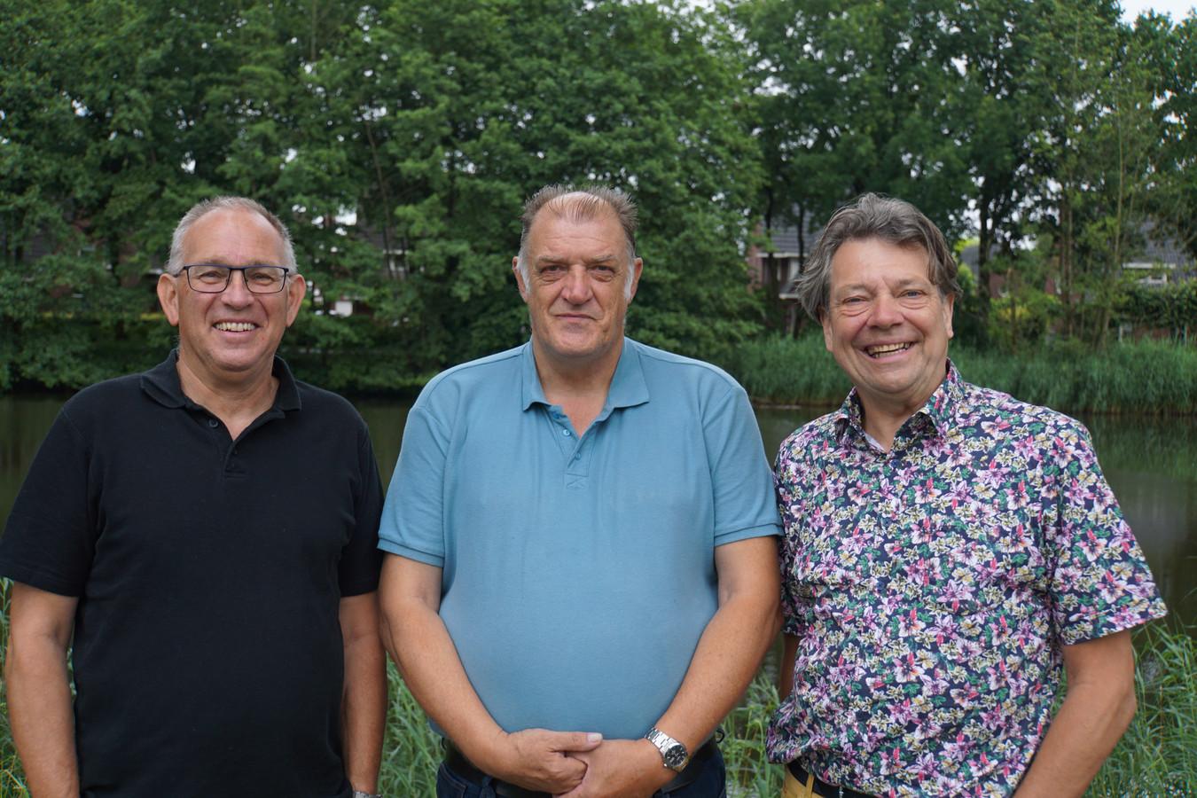 Van links naar rechts: de burgerleden Martien van den Hoven en René van de Westerlo en raadslid Michael Rieter.