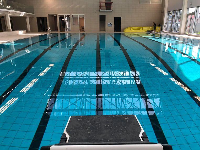 Een beeld van het nieuwe zwembad.