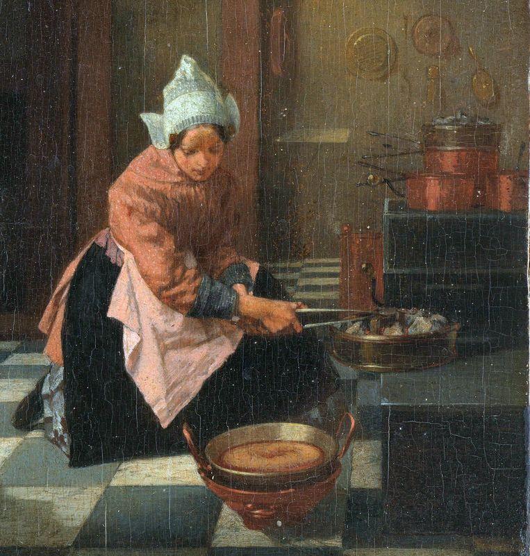 Alexander Hugo Bakker Korff, De taartenbakster/De wafelbakster, 1850-1884 Beeld Rijksmuseum Amsterdam
