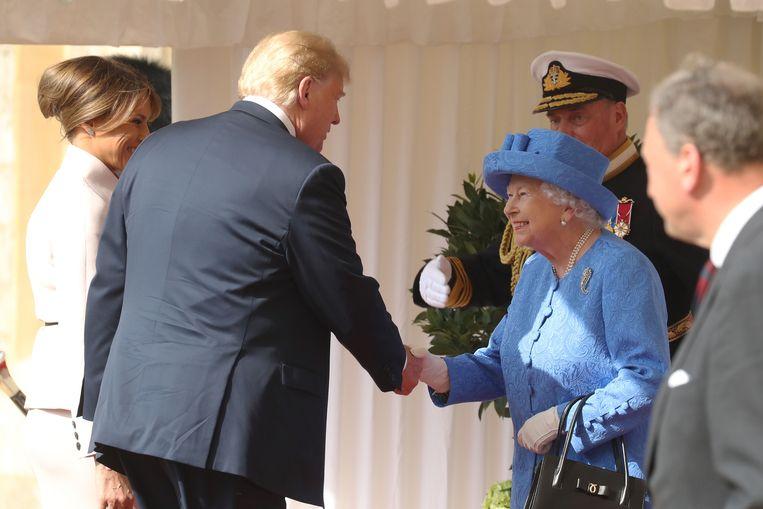 Trump had ook een ontmoeting met de Queen in Windsor Castle. Beeld Getty Images