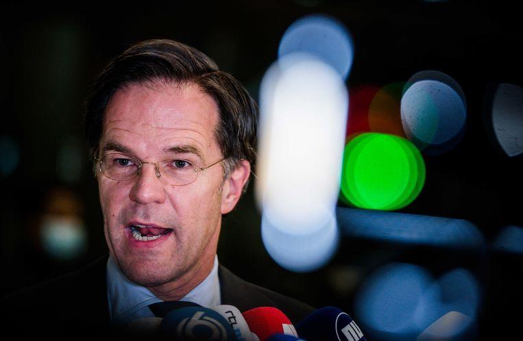 Mark Rutte in de Tweede Kamer na afloop van het debat over de mislukte formatieverkenning Beeld ANP