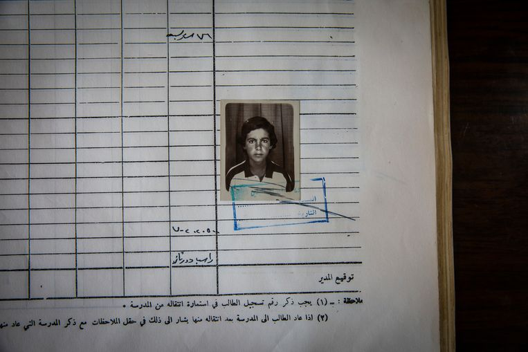 Abu Bakr al-Baghdadi als leerling van een school in Samarra, Irak. Als schooljongen was hij 'verlegen' en 'geïsoleerd'. Beeld NYT