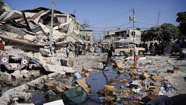 Verwoestingen na de aardbeving op Haïti. Beeld afp