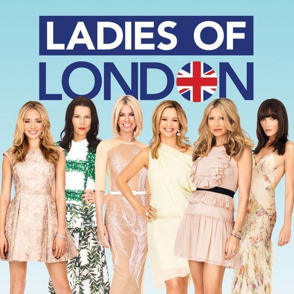 Annabelle (rechts) met de andere castleden van 'Ladies of London'.