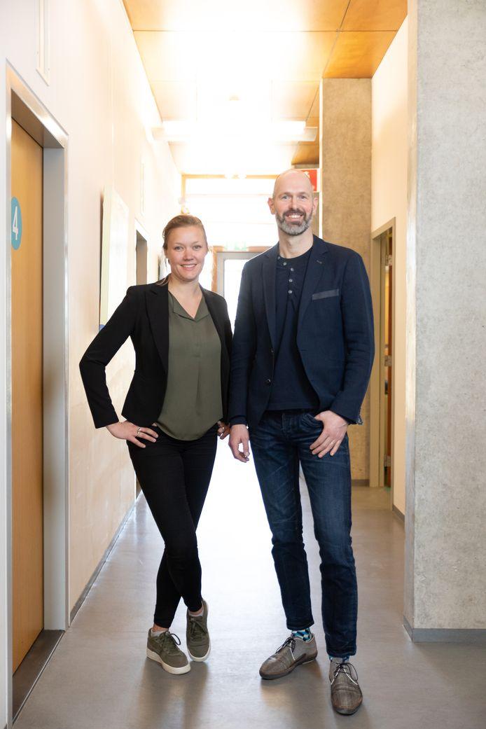 Marit Polman en Ton de Haan in Medisch Centrum Kortenoord.
