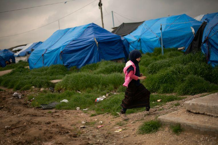 Kamp Al-Roj in Noordoost Syrië. Beeld AP