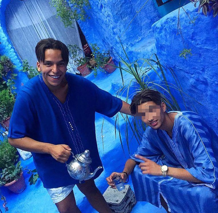 Rapper Soufiane Eddyani (links) en Bilal 'Moreno' A. (rechts).