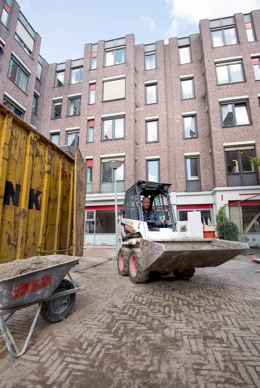 Huize Kohllman aan de Beekstraat tijdens een verbouwing.