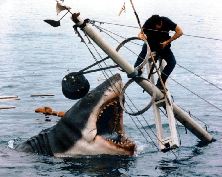 Fraser vindt Jaws (1975) een 'heerlijk moralistische film met fantastische muziek' Beeld Universal