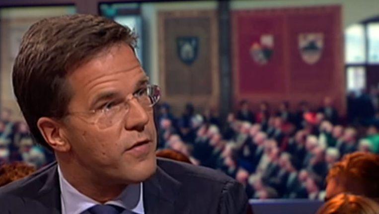 Premier Rutte bij Pauw & Witteman Beeld Pauw en Witteman