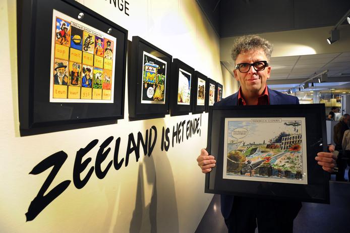 Cor de Jonge tekent al sinds 1989 cartoons voor de PZC. In 2014 was er ter gelegenheid van zijn 25-jarig jubileum een expositie in De Drvkkery in Middelburg.