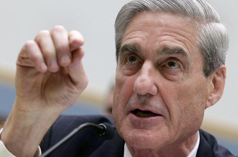 Robert Mueller (73), voormalig directeur van de FBI, werd in mei vorig jaar door Justitie als aanklager voor de zaak rond Russische inmenging bij de verkiezingen aangesteld.