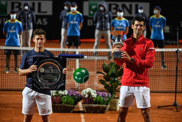 De Argentijn Schwartzmann verloor van Djokovic in de finale in Rome.