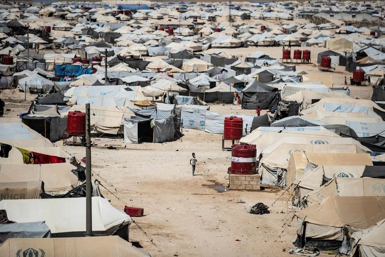Het geweld in het Syrische vluchtelingenkamp Al-Hol neemt de afgelopen weken steeds verder toe.  Beeld AFP