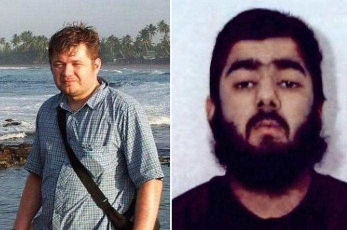 De Poolse keukenmedewerker Lukasz Koczocik en terrorist Usman Khan