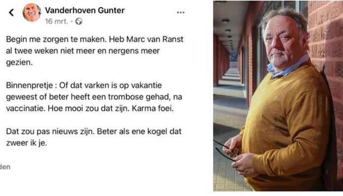 Gunter Vanderhoven wil nu in dialoog met Van Ranst.