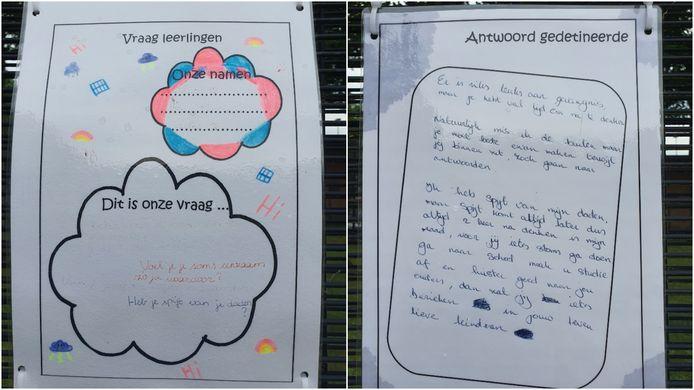 Enkele voorbeelden van de vragen van de leerlingen en de antwoorden van de gedetineerden.