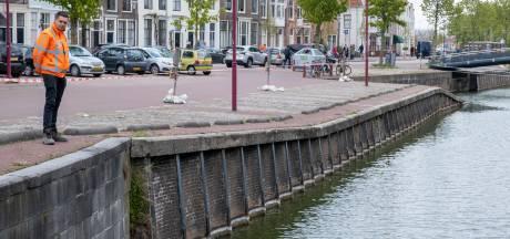 Kademuur Turfkaai Middelburg in slechte staat: 'Dit zijn geen sinkholes van Chinese proporties'