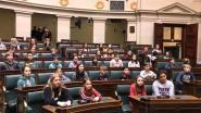 Zesdejaarsleerlingen brengen bezoek aan Federaal Parlement