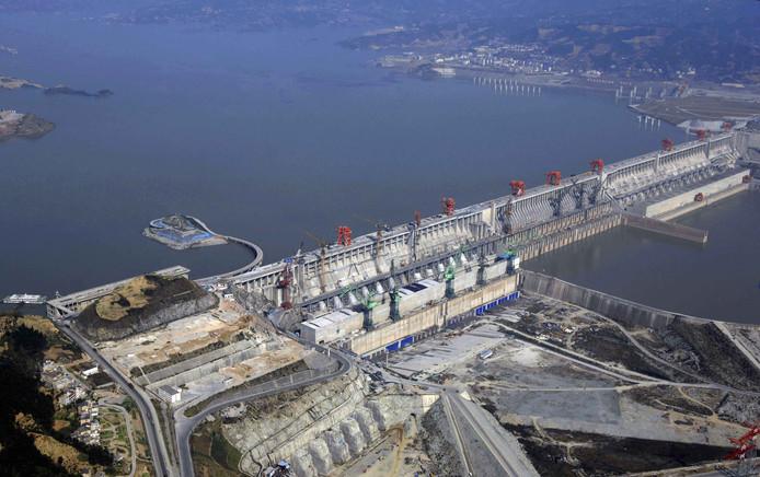 Een stuwdam in de Yangtze-rivier in het Chinese Yichang, een van de grootste ter wereld