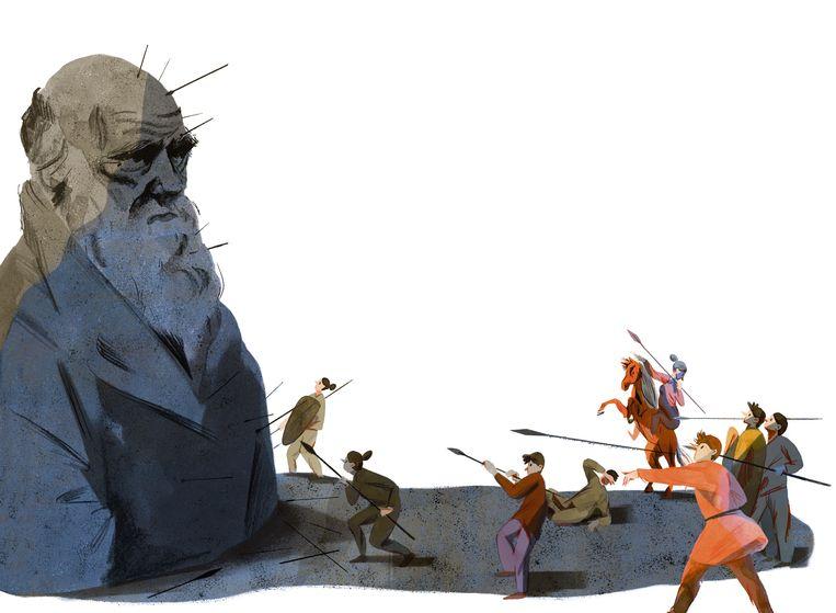 illustratie Darwin - afgewerkte versie Beeld Eleni Debo