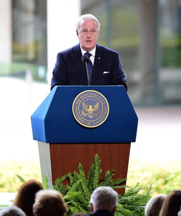 Voormalig Canadees premier Brian Milroney. Beeld AFP