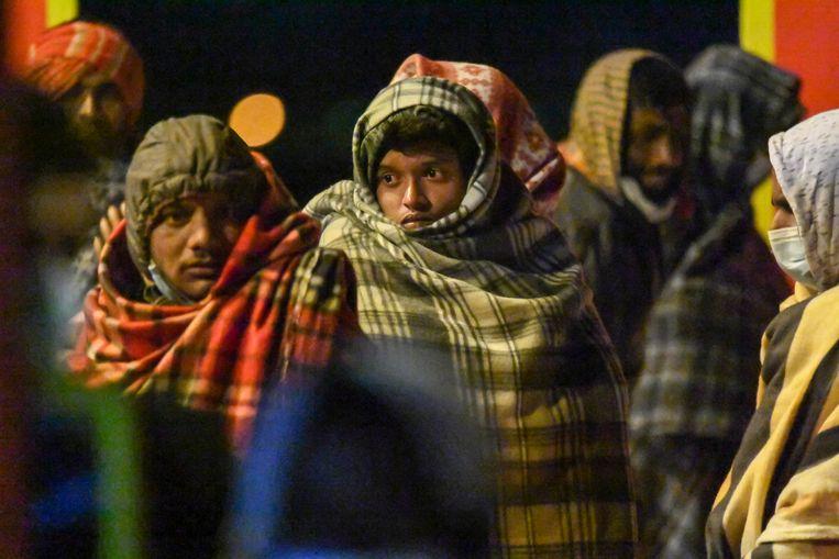 Er is plek voor tweehonderd mensen in de opvang van Lampedusa, maar er zitten nu ongeveer 1.700 mensen. Beeld AP