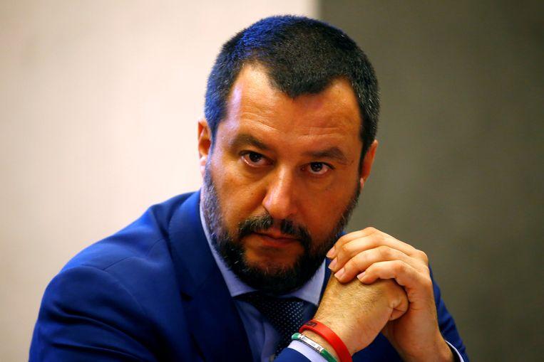 Italiaans minister van Binnenlandse Zaken Matteo Salvini Beeld REUTERS