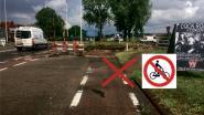 Beperkte doorgang voor fietsers in Oostrozebekestraat
