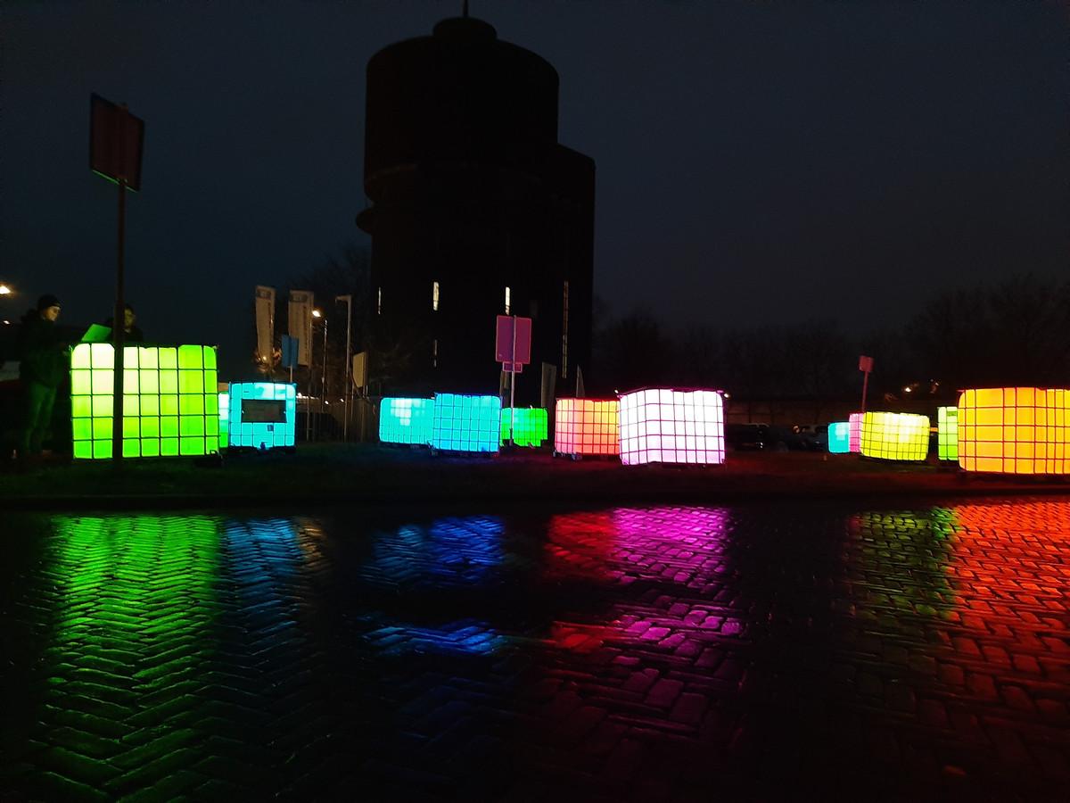 Lichtkunstwerk Speelhuislaan.