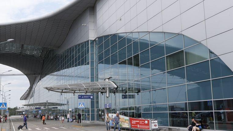 Exterieur van het transithotel op het Sheremetyevo vliegveld in Moskou waar Snowden al acht dagen verblijft. Beeld ap