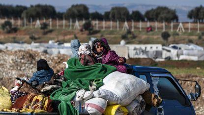 """Bijna miljoen mensen sinds december ontheemd door geweld in Syrië, Assad ziet """"eindoverwinning"""" naderen"""
