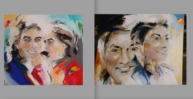 René Le Blanc (links) en René Froger, beide portretten geschilderd door Miriam Vleugels. Beeld Miriam Vleugels
