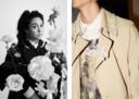 Simone Rocha (links) en een jas uit haar collectie.