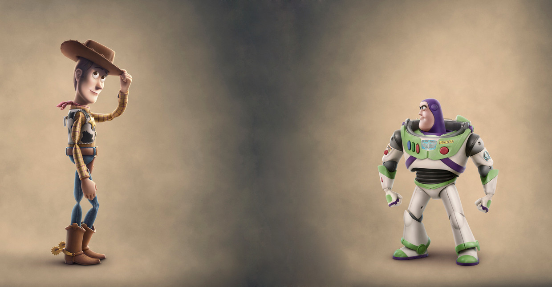 Woody en Buzz Lightyear in 'Toy Story 4'. Beeld RV