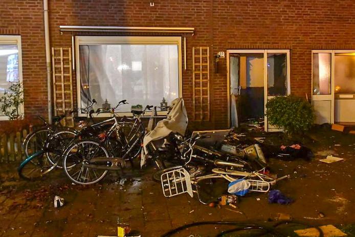 Explosie bij woning in Eindhoven.