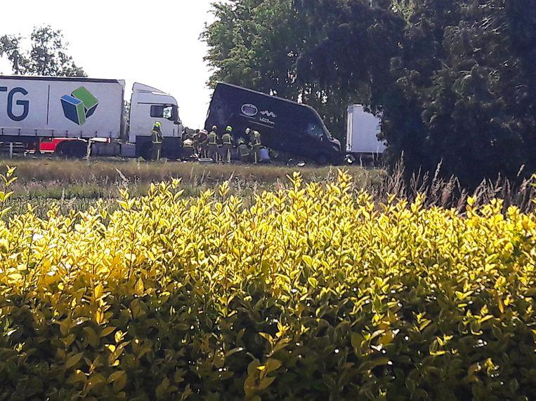 Bij het ongeval op de Mallebaan liepen drie personen verwondingen op.