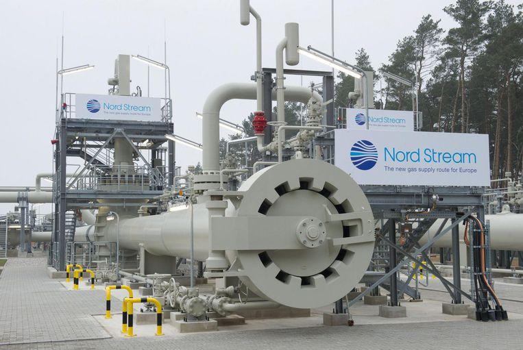 De Nord Stream, de directe gaspijpleiding tussen Rusland en Duitsland. Beeld epa