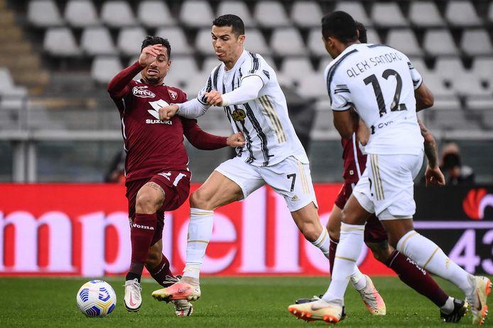 Cristiano Ronaldo maakte de gelijkmaker voor Juventus.