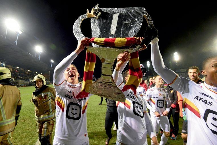 Aad de Mos over de bekercampagne: 'Het is typisch voor KV Mechelen om vanuit een underdogpositie grootse prestaties neer te zetten.' Beeld PhotoNews