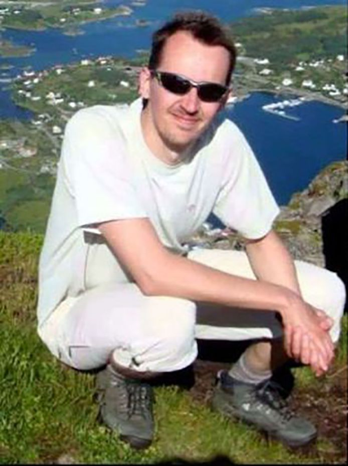 Samuel Paty tijdens een vakantie.