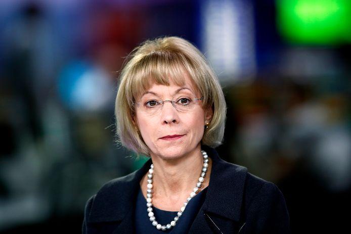 Nancy McKinstry, chief executive officer (ceo) van Wolters Kluwer in Alphen aan den Rijn.