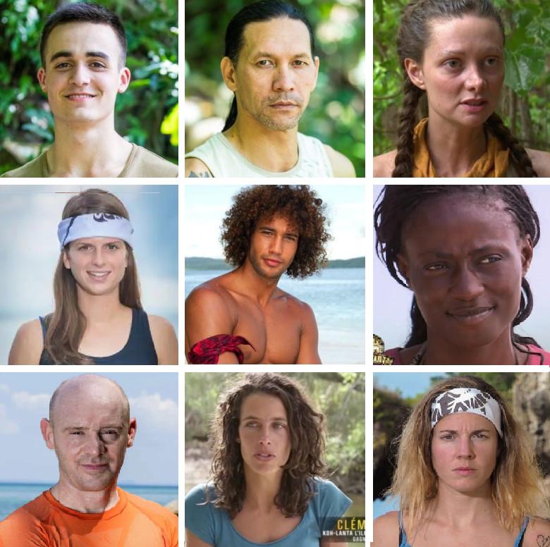 """Voici quelques-uns des visages qui feront partie de l'édition All-Stars de """"Koh-Lanta"""" (montage 7sur7)."""
