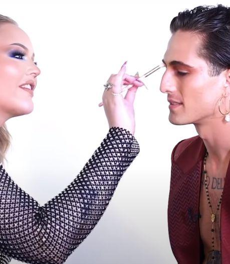 Nikkie de Jager doet make-up van Måneskin-zanger Damiano en ontdekt hele andere kant van hem