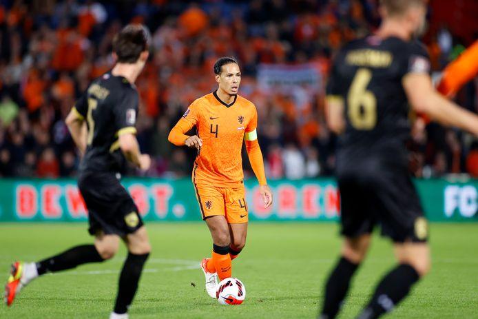 Virgil van Dijk stond diep op de helft van de tegenstander.